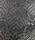 Fashion Brocade Fabric 45\u0022-Blackberry Wine Scallop
