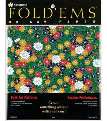 Fold 'Ems Origami Paper-16PK
