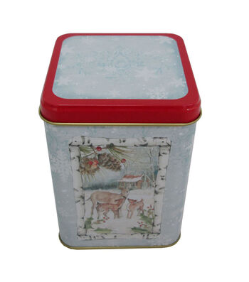 Maker's Holiday Christmas Medium Square Canister-Deer