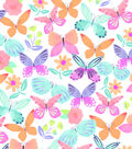 Snuggle Flannel Print Fabric 42\u0022-Watercolor Butterflies