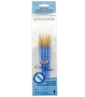 Royal & Langnickel® Round Brush Set 4pk-Golden Taklon