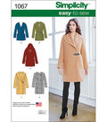 Simplicity Patterns Us1067H5-Simplicity Misses\u0027 Easy-To-Sew Jacket Or Coat-6-8-10-12-14
