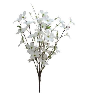Fresh Picked Spring 28'' Dogwood & Berry Bush-White