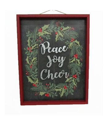Maker's Holiday Christmas Wall Decor-Peace Joy Cheer