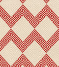 Waverly Upholstery Fabric 57\u0022-Greek Notes Red