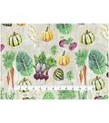 Novelty Cotton Fabric 43\u0022-Veggies From Garden