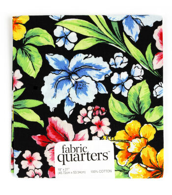 """Fabric Quarters Cotton Fabric 18""""-Assorted Tropical Patterns"""