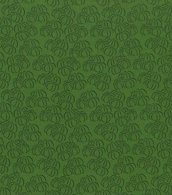 "Holiday Showcase™ Harvest Cotton Fabric 43""-Pumpkin Sketch"