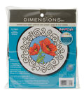 Dimensions Learn-A-Craft Counted Cross Stitch Kit Poppies