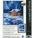 Winter Sky Cabin Needlepoint Kit-11\u0022X14\u0022 Stitched In Thread