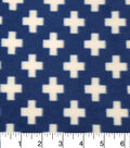 Anti-Pill Fleece Fabric 57\u0022-Survivalist Navy Plus Signs