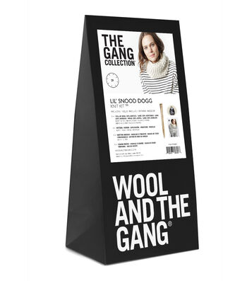 Wool And The Gang 'Lil Snood Dogg Knit Kit-Ivory White