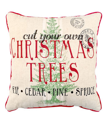 Maker's Holiday Christmas Pillow-Cut Your Own Christmas Tree