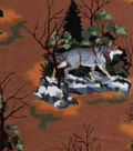Snuggle Flannel Fabric 42\u0022-Wild Wolves