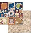 BoBunny Stay Awhile 25 pk 12\u0027\u0027x12\u0027\u0027 Double-Sided Cardstock-Warm
