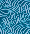 Blizzard Fleece Prints-Turq White Zebra