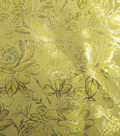 Glitterbug Brocade Fabric 59\u0022-Yellow Rose