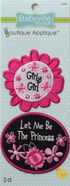 Babyville Boutique Appliques™ Pink Floral 2Ct