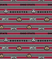"Ohio State University Buckeyes Cotton Fabric 44""-Polo Stripe, , hi-res"
