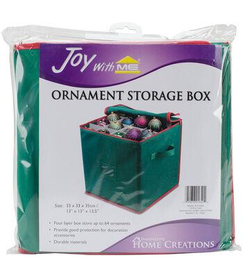 Innovative Home Creations 13.5''x13''x13'' Ornament Storage Box