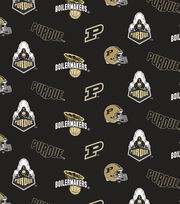"Purdue University Boilermakers Cotton Fabric 44""-All Over, , hi-res"