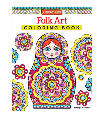 Adult Coloring Book-Design Originals Folk Art