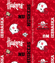 "University of Nebraska Cornhuskers Fleece Fabric 60""-Digital Camo, , hi-res"