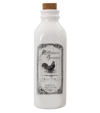 Hudson 43 Farm Ceramic Milk Bottle-Rooster