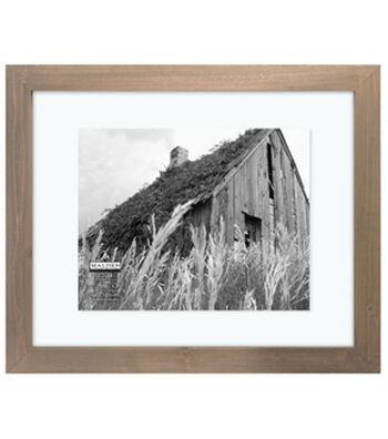 Float Frame 16X20-Barnwood Distressed