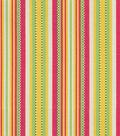 Home Decor 8\u0022x8\u0022 Fabric Swatch-Upholstery Fabric-Waverly Sweet Stripe/Sorbet