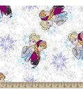 Disney Frozen Print Fabric-Snowflake Sisters