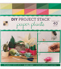 DCWV 12\u0022x12\u0022 DIY Project Stack: Paper Plants