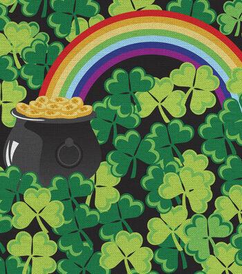 St. Patrick's Day Fabric 44''-Shamrocks & Rainbows