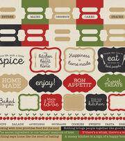 "Bon Appetit Cardstock Stickers 12""X12"", , hi-res"