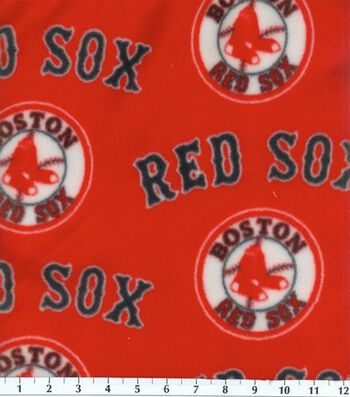 "Boston Red Sox Fleece Fabric 58""-Tossed"