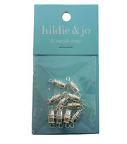hildie & jo™ 10 Pack Barrel Clasps-Silver, , hi-res