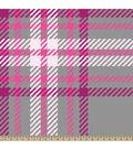 Blizzard Fleece Fabric-Regan Plaid Pink
