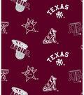 Texas A&M University Aggies Fleece Fabric 58\u0022-Allover Maroon
