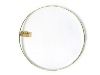 """Darice 12"""" Metal Macrame Ring-Gold"""