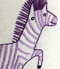 Penguin & Fish Hand Embroidery Pattern-Zebra