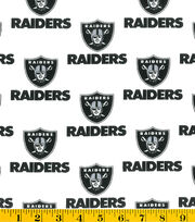 "Oakland Raiders Cotton Fabric 58""-White, , hi-res"