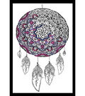 Design Works Zenbroidery Stamped Picture Kit-Dreamcatcher