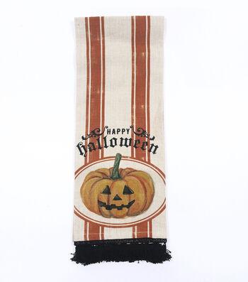 "Maker's Halloween Cotton Slub Hand Towel 16""x28""-Happy Halloween"