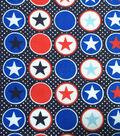 Patriotic Fabric-Stars N Dots