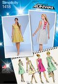Simplicity Pattern 1418P5 12-14-16-1-Misses Dresses