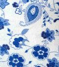 Snuggle Flannel Fabric 42\u0022-Princess Blue Paisley Floral