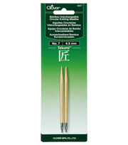 Clover Takumi Interchangeable Circular Knitting Needles Size 7/4.5mm, , hi-res