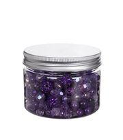 hildie & jo™ 4.58 oz. Assorted Fashion Beads in Plastic Jar-Purple, , hi-res