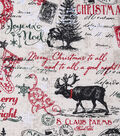 Christmas Cotton Fabric 43\u0022-S. Claus Farms