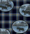 Anti-Pill Fleece Fabric 58\u0022-Moose Patch Plaid